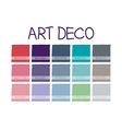 Art Deco Color Tone vector image