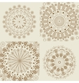 Set circular round ornaments vintage style vector image vector image