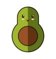 avocado fresh vegetable kawaii style isolated icon vector image