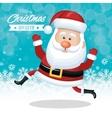 christmas card santa claus funny snow design vector image