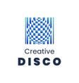 creative disco logo template modern element for vector image