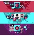 Dj Horizontal Banner Set vector image