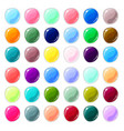 multicolored glass buttons on white background vector image