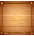 Rope Frame on Wood Template for Yuor Text vector image