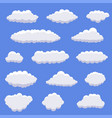white cartoon clouds vector image