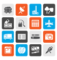 Flat Business and industry icons vector image vector image
