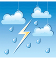 cloud rain drops and lightning vector image