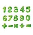 numbers and signs vector image vector image