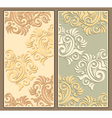 Two decorative backgrounds in pastel colors vector image