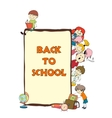 Kids school sketch poster vector image vector image