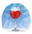 wine glass polygonal vector image vector image