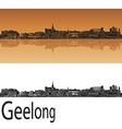 Geelong skyline in orange vector image