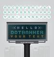 digital led billboard signdot signboard modern vector image