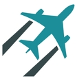 Air Jet Trace Flat Icon vector image
