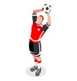 Soccer Throw 2016 Sports Isometric 3D vector image vector image