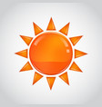 abstract orange sun on white background vector image