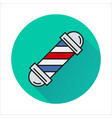 barbershop element icon on circle vector image