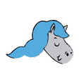 cute and beautiful pegasus horse fantasy vector image