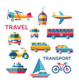 digital blue red yellow travel vector image