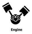 engine icon simple black style vector image