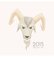 Goat With Rounded Horns vector image