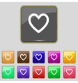 Medical heart sign icon Cross symbol Set colourful vector image