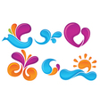 spring symbols vector image