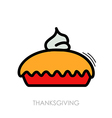 Thanksgiving Pie icon Harvest Thanksgiving vector image