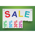 Word sale in the form of stickers vector image vector image