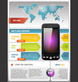 Mobile Cell Smart Phone Telecom Provider Flyer Vector Image