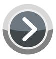 Gray round button icon cartoon style vector image