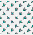 seamless pattern with wifi sign vector image