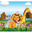 Animals in the field vector image