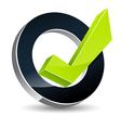 Correct tick icon vector image
