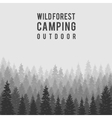wild coniferous forest background Outdoor vector image