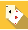Card suit icon flat style vector image