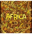Cartoon cute doodles hand drawn african vector image