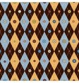 Classic argyle pattern in patchwork style vector image