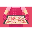Sweet heart shape cookies vector image