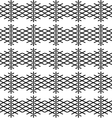Tile black and white pattern or nordic background vector image