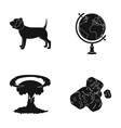 veterinary medicine and or web icon in black style vector image