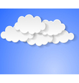 clouds bubbles vector image vector image
