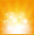 orange background with beams vector image