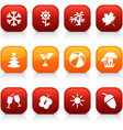 Seasons buttons vector image