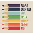 Colored pencils set vector image