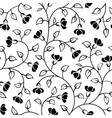 abstract flowers leaf seamless pattern vector image