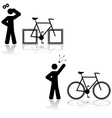 Bicycle problem vector image