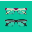 Glasses isolated eyeglasses vector image