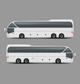 private charter tour or coach bus realistic vector image