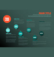 simple timeline template vector image